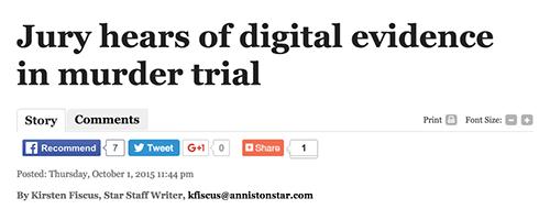 Jury hears of digital evidence in murder trial