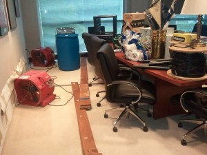RMA flooding in conference room
