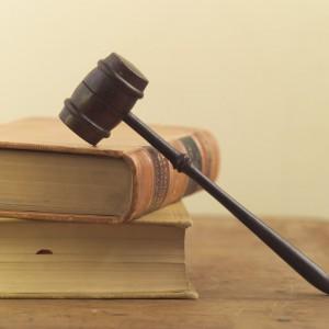 gavel law books