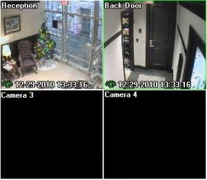 security camera split view