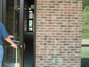 open exterior door