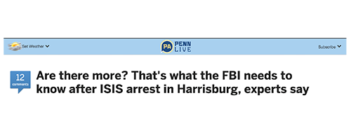 Are there more? That's what the FBI needs to know after ISIS arrest in Harrisburg, experts say