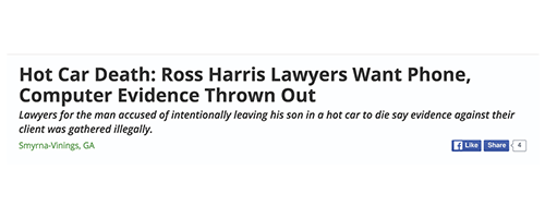 Hot Car Death: Ross Harris Lawyers Want Phone, Computer Evidence Thrown Out