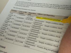 background screening report