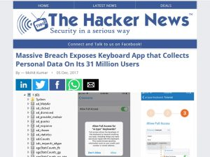 article keyboard app