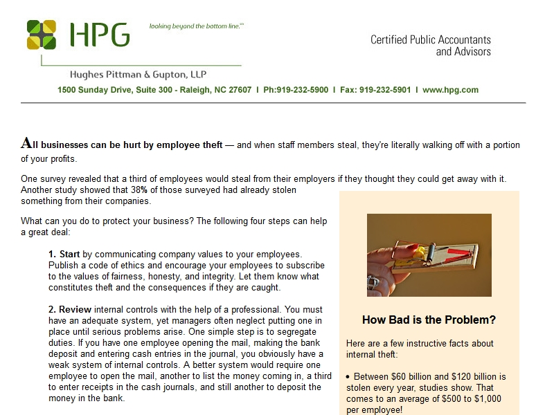 HPG Employee Theft Article