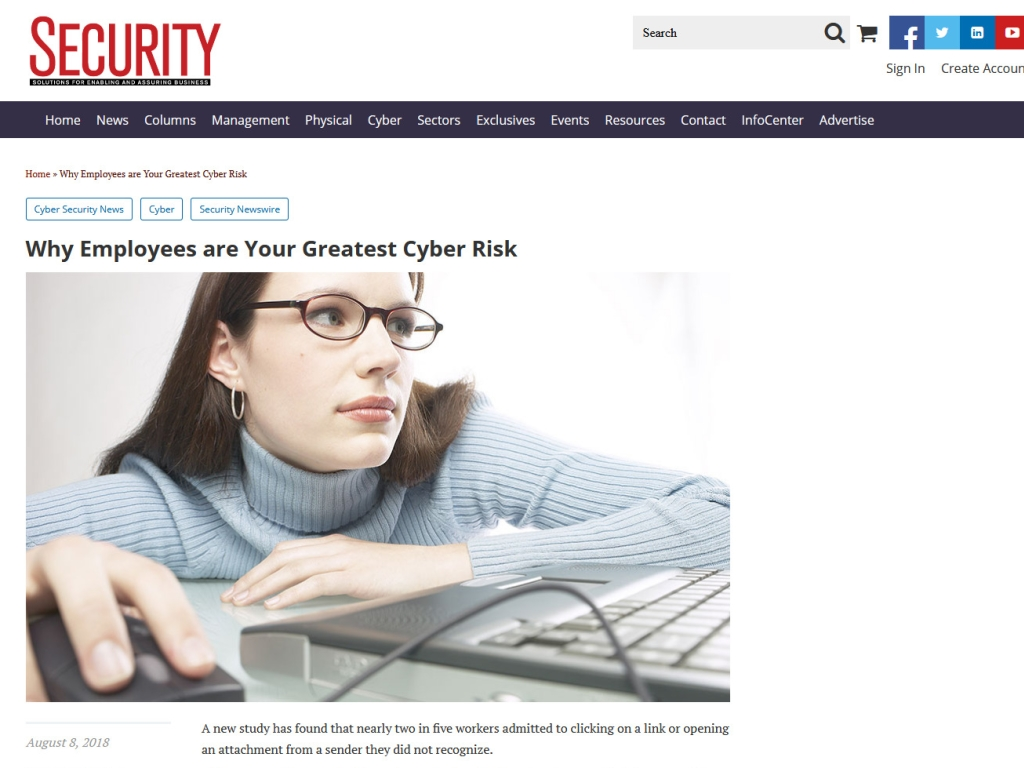 Security Magazine article