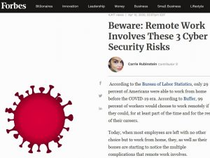 working remotely security risks